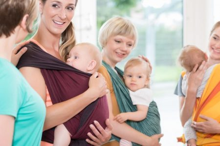 type of baby carriers - group of moms