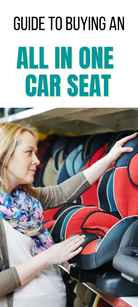 mom choosing all in one car seat